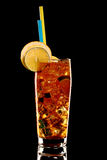 Long island fresh Coctail isolated on black Stock Images