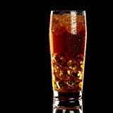 Long island fresh Coctail isolated on black Royalty Free Stock Image