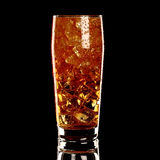 Long island fresh Coctail isolated on black Royalty Free Stock Photo