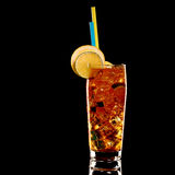 Long island fresh Coctail isolated on black Stock Photo
