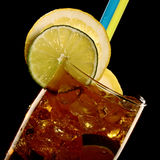 Long island fresh Coctail isolated on black Royalty Free Stock Photos