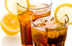Long Island Ice tea. Cocktail Long Island Ice tea close up Royalty Free Stock Image