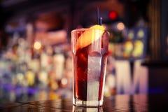 Long Island ice tea on the bar. Long Island iced tea on the bar Stock Photo
