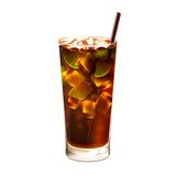 Long island ice tea cocktail realistic Royalty Free Stock Photos