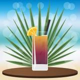Long Island Iced Tea cocktail vector illustration