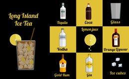 Long Island lodu kwadrat royalty ilustracja