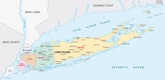 Long Island mapa Zdjęcie Royalty Free