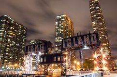 Long Island by night,New York Royalty Free Stock Image