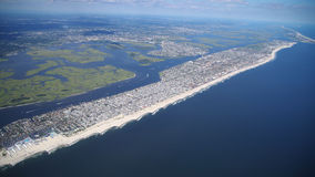 Long Island, NY from above. Taken with DSLR camera from airplane Royalty Free Stock Photo