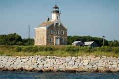 Long Island, NY: Faro de la isla del ciruelo Fotos de archivo