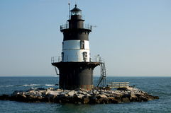 Long Island, NY: Orient-Punkt-Leuchtturm stockbilder