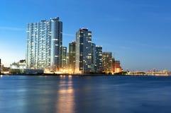 Long Island stad New York royaltyfri fotografi