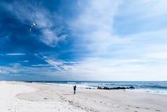 Long Island strand i November Arkivbild