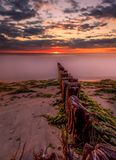Long Island sunset. The picture decribes itself Royalty Free Stock Photos