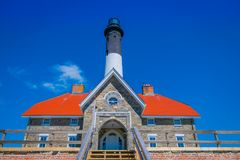 Free LONG ISLAND, USA, APRIL, 17, 2018: Below Outdoor View Of Montauk Point Lighthouse, The Oldest Lighthouse In New York Royalty Free Stock Image - 115178126