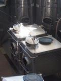 Long Island vinodlingutrustning Arkivbilder