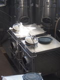 Long Island Winery equipment. Some Long Island wineries offer tours of the vineyard and wine making operation Stock Images