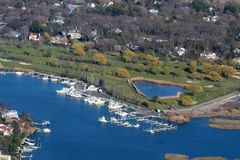 Long Islandjachthafen lizenzfreies stockbild