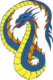 Long japanese dragon worm Stock Photo