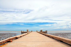 The long jetty Royalty Free Stock Images