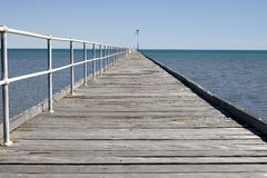 Long jetty Royalty Free Stock Images