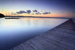 Long Jetty Australia at Dusk Royalty Free Stock Photography