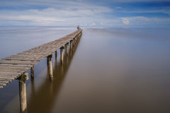 Long Jetty and Clear View Stock Images