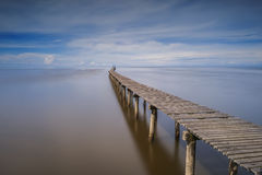 Long Jetty and Clear View Stock Image