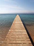 Long jetty on the Jordan. Long jetty in Red sea (Jordan Royalty Free Stock Photo
