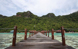 Long jetty in semporna island Stock Photography