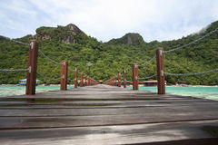 Long jetty in semporna island Stock Photo