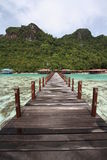 Long jetty in semporna island Royalty Free Stock Photos