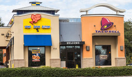 Long John Silver and Taco Bell Stock Image