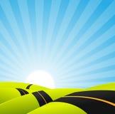 Long Journey Background Stock Photo