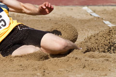 Long jump. In track and field Stock Photos