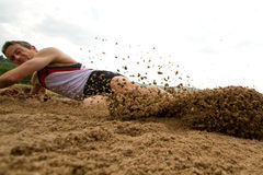 Long jump Royalty Free Stock Photography