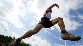 Long jump. In track and field Royalty Free Stock Photography