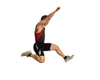 Long jump. In track and field Stock Images