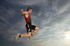 Long jump Stock Images
