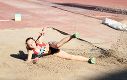 On the long jump Royalty Free Stock Images