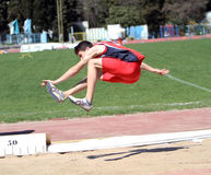 On the long jump Stock Images