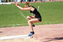 On the long jump Royalty Free Stock Photography