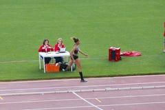 Long jump athlete Stock Image