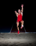 Long jump athlete Royalty Free Stock Photos