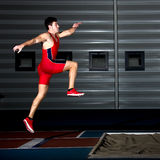 Long jump athlete Royalty Free Stock Images