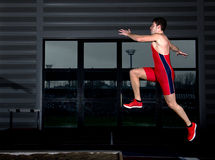 Long jump athlete Stock Photography