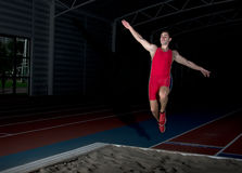 Long jump athlete Stock Photos
