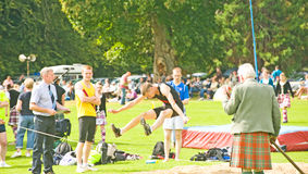 Long jump competition. Royalty Free Stock Image