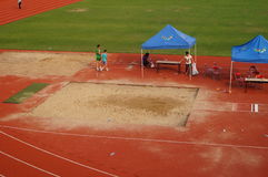 Long jump competition Stock Image