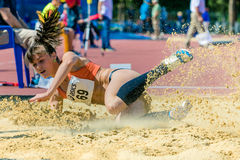 Long jump girls Royalty Free Stock Photos